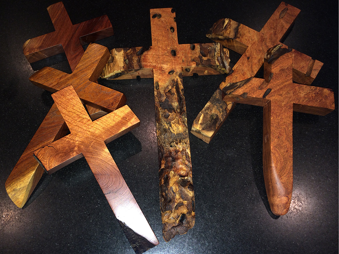 crosses of mesquite wood