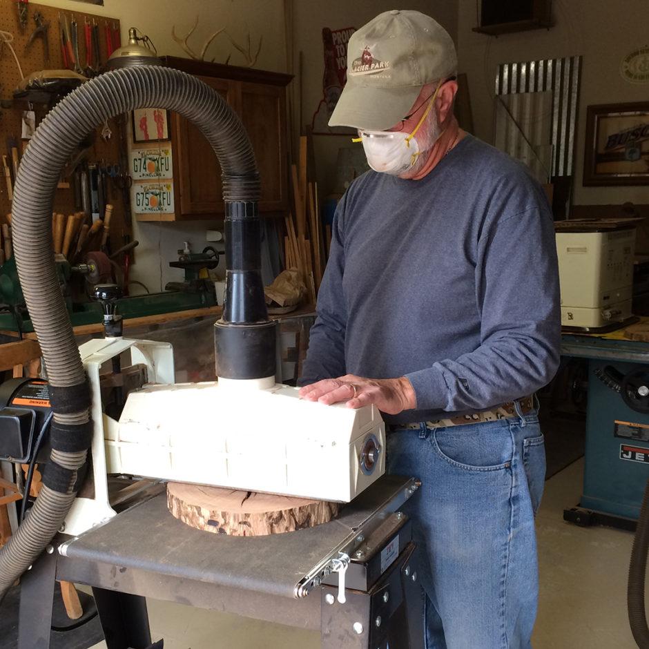 drum sanding wood