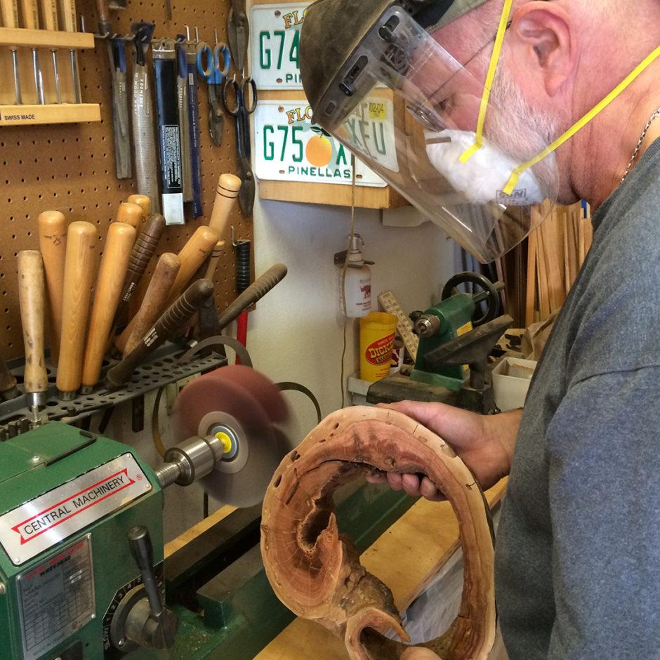 flap wheel sanding wood
