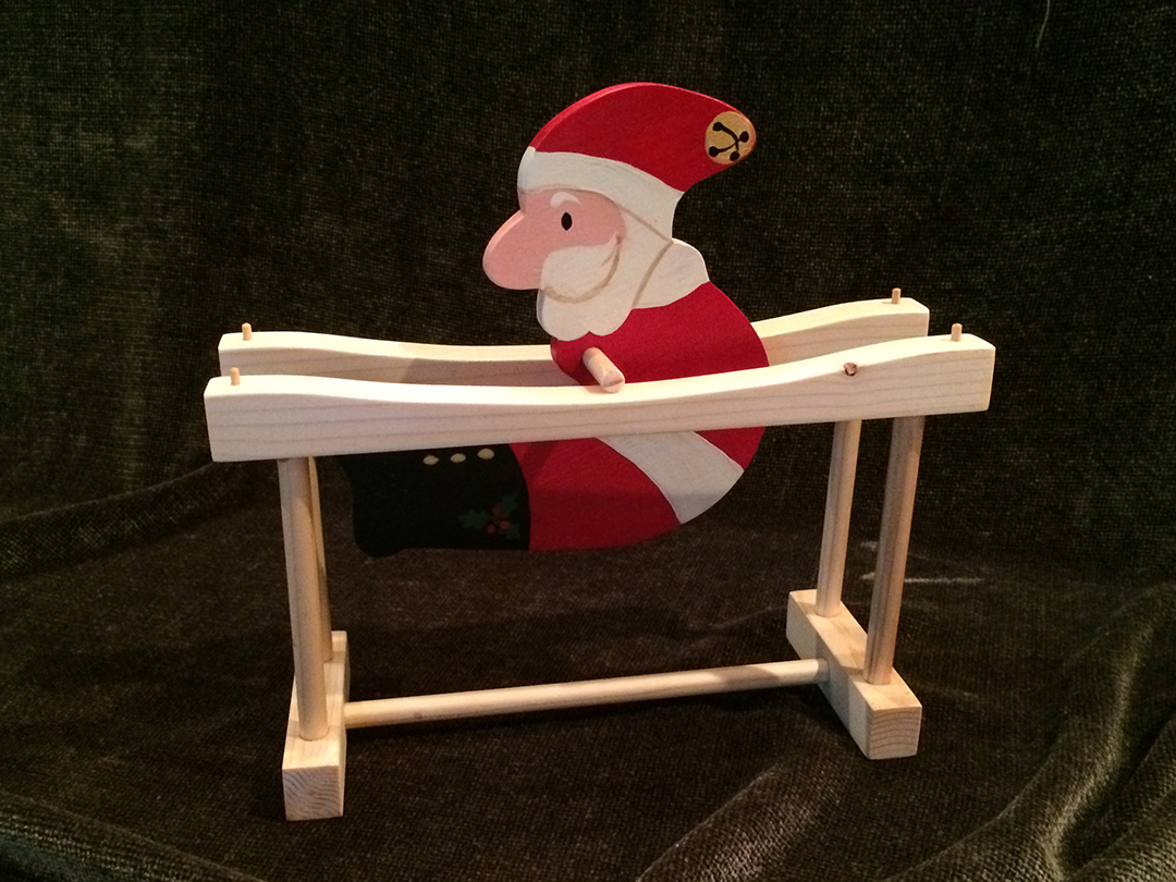 kinetic santa wooden toy