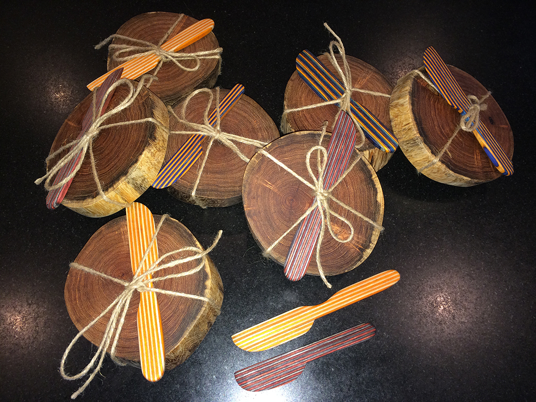 mesquite cheese blocks with spreaders