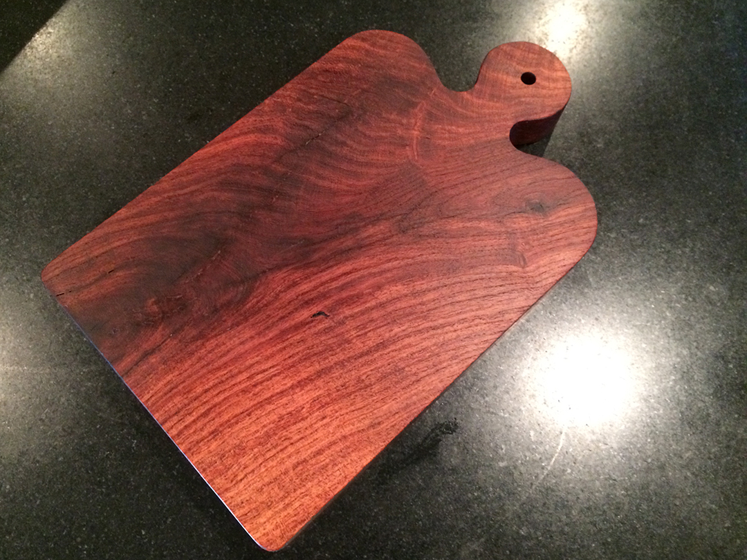 mesquite wood cheese and bread board