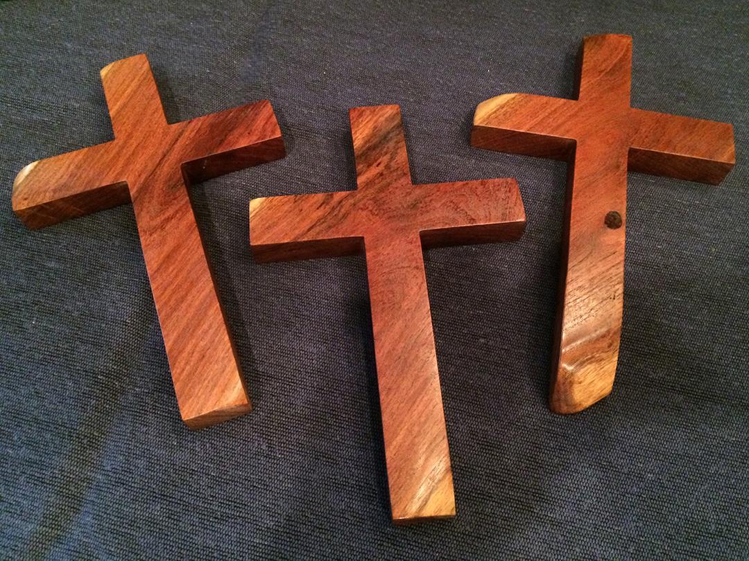 mesquite wood crosses