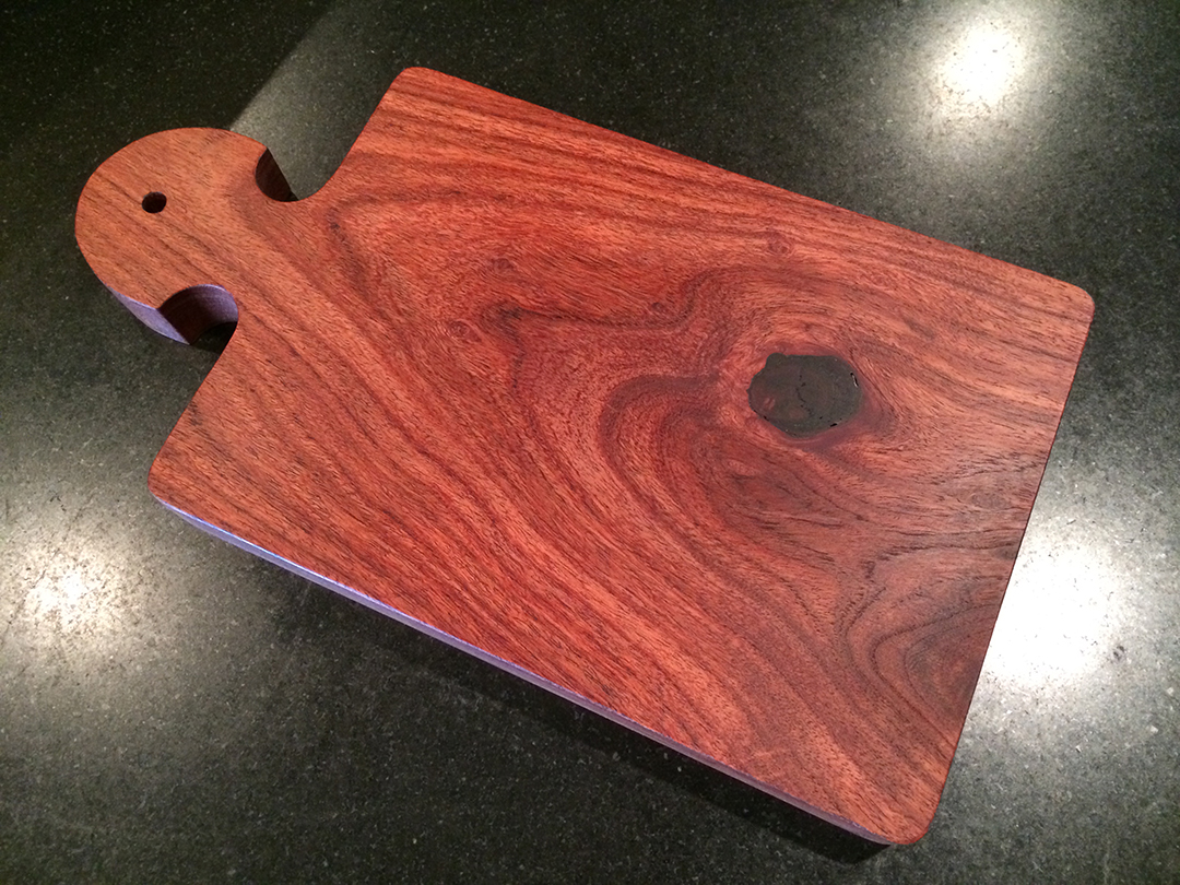 mesquite wooden cheese and bread board