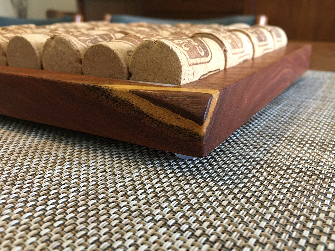 cork and wood trivet side profile