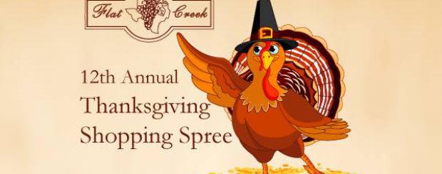 Flat Creek's Thanksgiving Shopping Spree