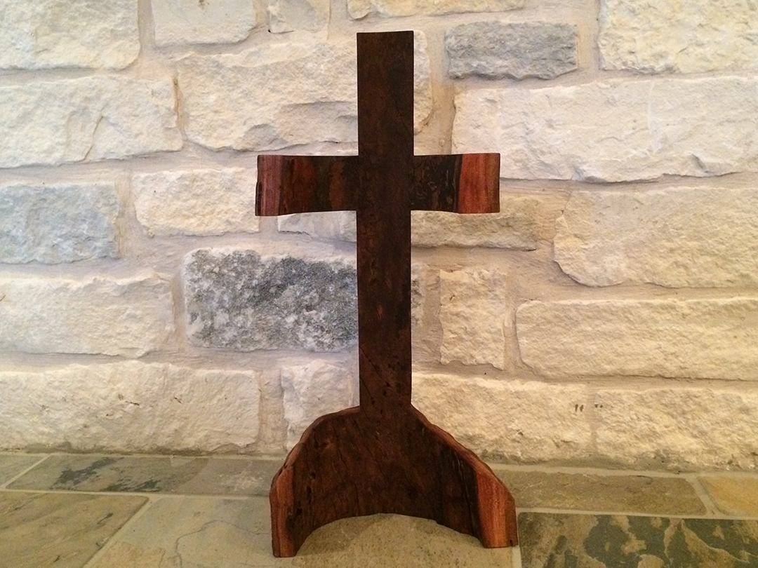 hollow trunk wood cross