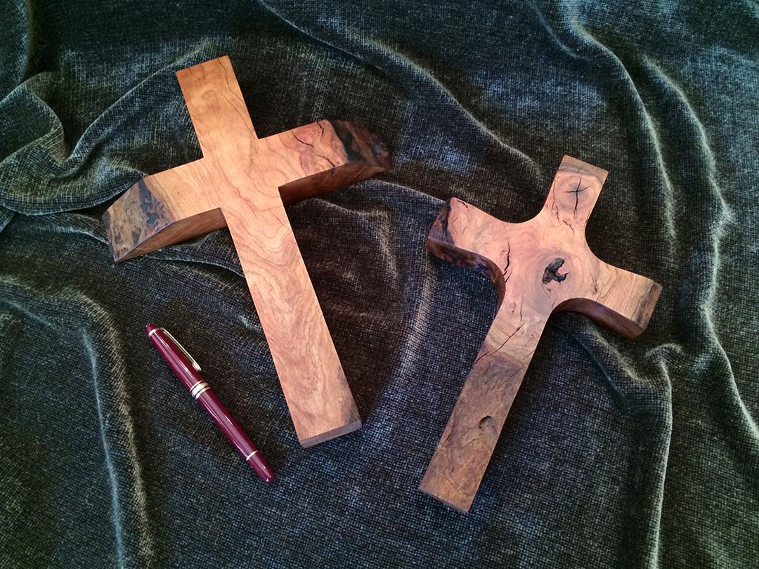 small wood crosses