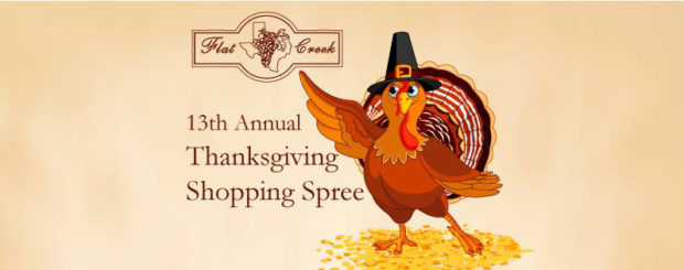 Flat Creek Estate Winery and Vineyard's 13th Annual Thanksgiving Shopping Spree