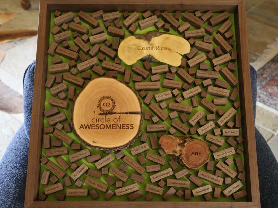 custom wood regional team achievement