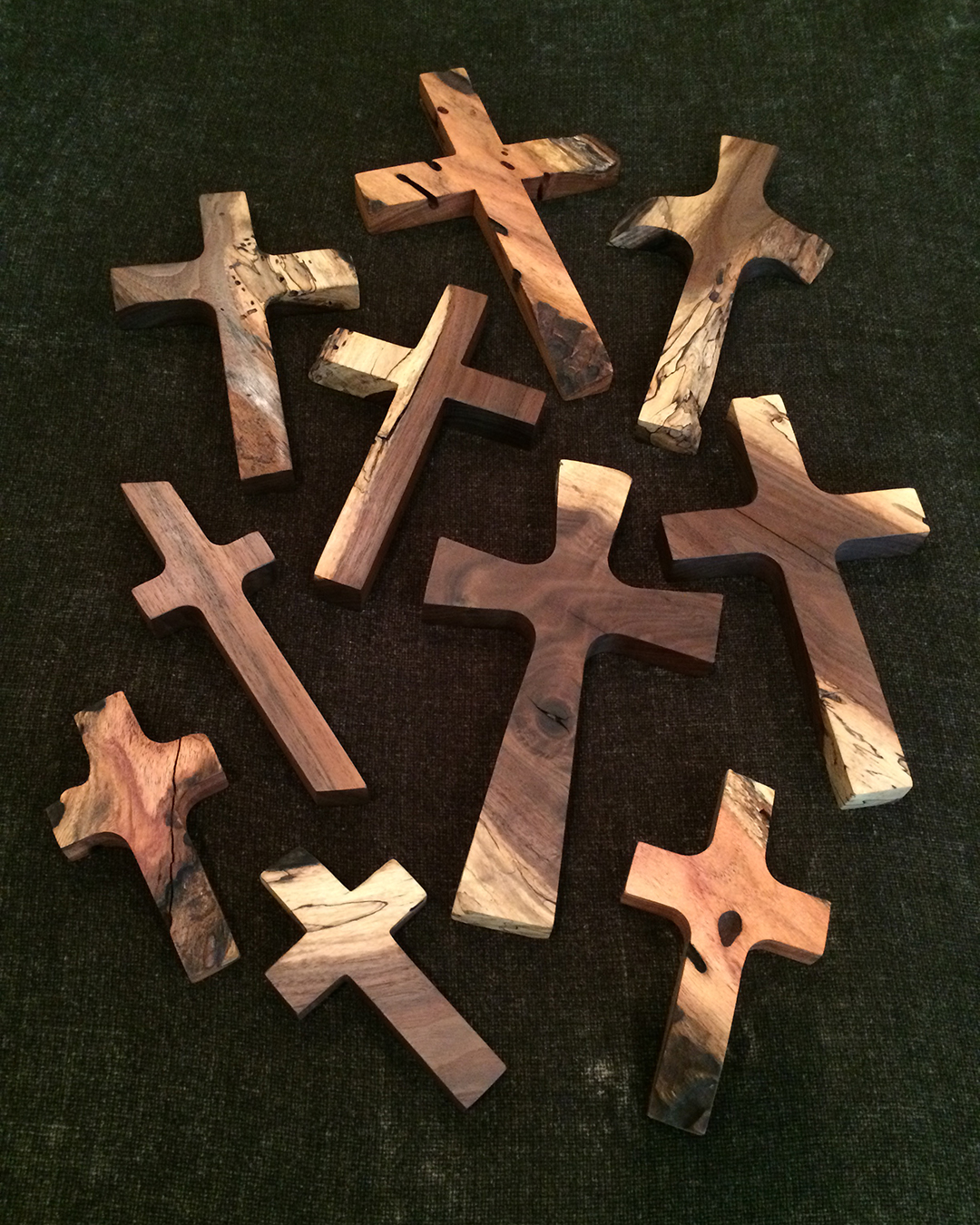 natural mesquite wood crosses of various sizes